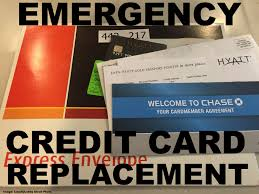 traveling and need an emergency credit card case chase hyatt visa card