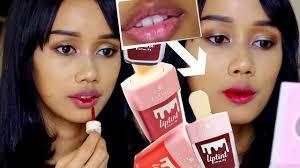 Tes Lip Tint Di Bibir Hitam Kering La Tulipe Lip Tint Review