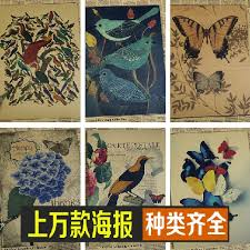 Us 1 6 Butterfly Chart Vintage Poster Retro Painting Wall Art Sticker Home Decoration Classic Print And Picture Bar Cafe Paint In Painting