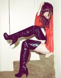 hooker boots. Wild At Heart - Chloé Thigh High Hooker Boots, Vintage Leather Biker Jacket, Bona Boots O