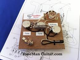 guitar tone improvement vintage 50s tone tone man guitar stratocaster premium fender prewired wiring harness kit eric johnson set up wired for bridge tone control 1uf vintage pio tone cap