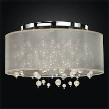 Drum Shade Flush Mount Ceiling Light