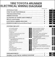 1992 toyota 4runner wiring diagram manual original