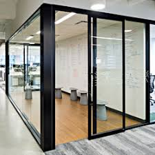 office sliding door. The 487 Series Office Partition System Is Now Available With An Integrated Top-hung Sliding Door Option That Saves Valuable Floor Space Compared To R