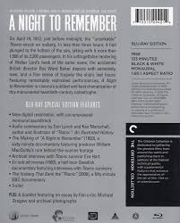 a night to remember blu ray