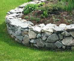 garden edging stone. Stone Wall Garden Edging Dry Stack Stones For .