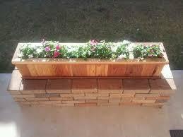 flower planters old bricks planter boxes
