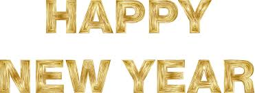 Happy New Year Gold Transparent & PNG Clipart Free Download - YA ...