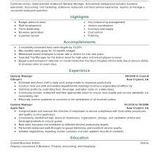 Team Lead Resume Interesting Restaurant Manager R Food Service Manager Resume And Sonicajuegos