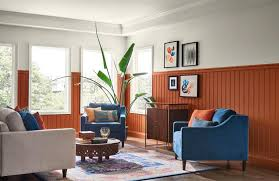 wall paint colors blue beadboard painted sherwinwilliams cavern clay sw7701 consumer reports hottest interior paint colors of 2019 consumer reports