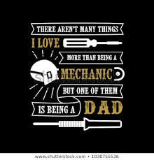 Mechanic Quotes Amazing Fathers Day Saying Quotes Mechanic Dad Stock Vector Royalty Free