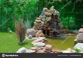 Artificial Pond Design Small Artificial Pond Fountain Summer Garden Landscape