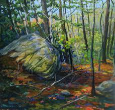 jan blencowe the poetic landscape spring woods a new england landscape painting