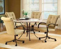 dining table with caster chairs photos gallery of chairs with casters dining room sets round dining