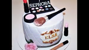cake decorating tutorials how to make fondant makeup cake topper sugarella sweets