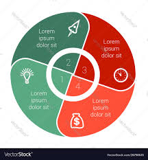 Pie Chart Data Elements For Template Infographics