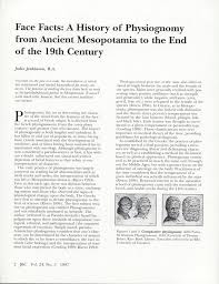 face facts a history of physiognomy from ancient mesopotamia to face facts a history of physiognomy from ancient mesopotamia to the end of the 19th century pdf available