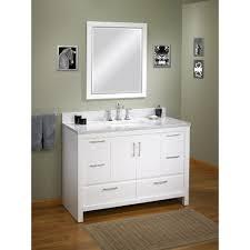 vanities bathroom furniture. Attractive White Costco Vanities With Square Mirror Gray Towel And Bath Mat Bathroom Furniture