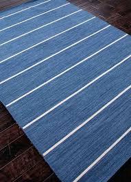 blue and white flat weave rug rugs floor coverings stripe pattern wool