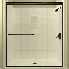 arizona shower door euro 62 in to 66 in w semi frameless anodized
