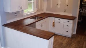 dark butcher block countertops incredible white cabinets with wood awesome throughout 10
