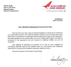 Letter To Airline Alert Air India Publishes Letter To Pilots Attempting Sabotage Of