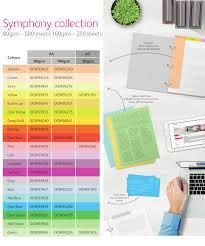 Optix Paper Colour Chart 19 Meticulous Xerox Symphony Paper Colour Chart