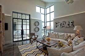 yellow and gray chevron rug