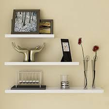 Image of: White Floating Wall Shelves Style Ideas