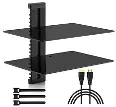 floating shelves for tv equipment double floating shelves