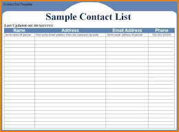 contact spreadsheet template contact spreadsheet template 28 templates name and address