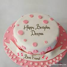 I Have Written Deepak Name On Cakes And Wishes On This Birthday Wish