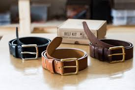 we supply the leather for belt and keepers cut to length with holes in the right places a buckle made out of solid brass or stainless steel lace