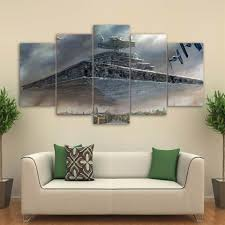 star wars imperial star destroyer 5 piece panel print poster picture wall art ash wall on star wars canvas panel wall art with star wars imperial star destroyer 5 piece panel print poster picture