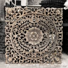 Decorative Wood Wall Panels Authentic Wall Art Hanging Wood Carving Panel Siam Sawadee