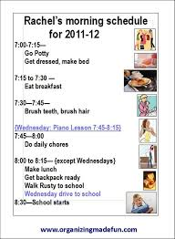 Daily Routine Chart For 9 Year Old Daily Schedule For 6 Year Old Planner Template Free