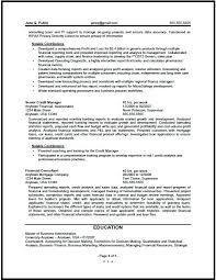 Credit Analyst Resume Financial Analyst Resume Example Financial Analyst Resume Entry