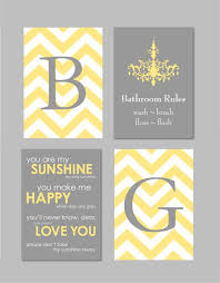 stunning yellow and gray bathroom decor yellow and gray bathroom art home decor prints you are
