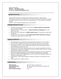 Sap Abap Sample Resumes Best Of Sap Bi Sample Resume For Years