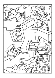 Minecraft Colour Pages Coloring Page Pedia