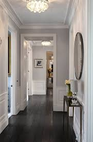 home decorating ideas transitional grey hallway with bright white woodwork rients ltd upper level hallway