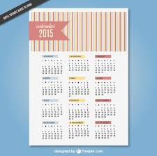 Editable 2015 2020 Calendar Striped 2015 Calendar Vector Free Download