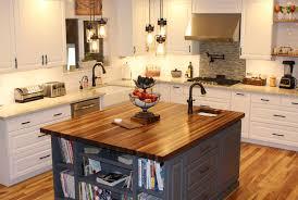 rustic walnut butcher block countertop with everlast varnish finish