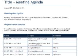agenda template for word word templates outlook templates user guide templates theapptimes