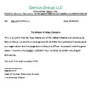 Sample Of Employment Certification Letter Employment Verification Letter Doc Letterformats Net