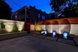 outdoor lighting for fence outdoor lamps for patio with concrete patio tiles and stoned wall art ideas full
