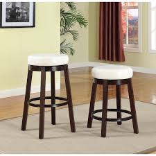 Swivel Counter Height Bar Stool with Leather Seat and Metal Foot Rest (Set  of 2) - Free Shipping Today - Overstock.com - 19057621