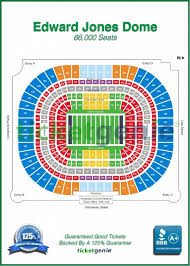 Gcs Ballpark Seating Chart Ticketgenie Map Edward Jones Dome Stadium Know Where Your