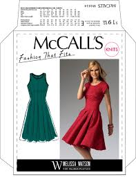 Fit And Flare Dress Pattern Simple McCall's 48 Fit And Flare Pleated Dress Pattern