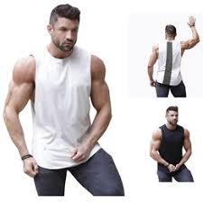 new fashion trend fit fitness round neck sleeveless vest - Vova